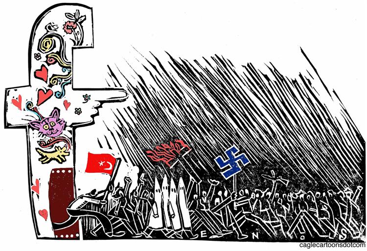 Editorial Cartoon: Facebook Expels