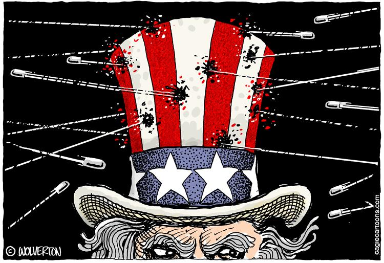 Editorial Cartoon: Besieged by Gun Violence