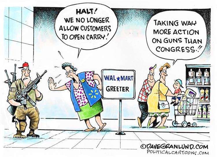 Editorial Cartoon: Walmart no open carry