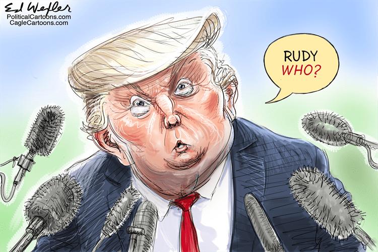 Editorial Cartoon: Rudy Who