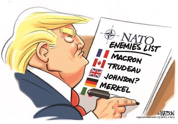 Editorial Cartoon: World Class Enemies List